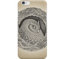 Owl ink illustration iPhone Case/Skin