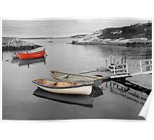Canoes - Peggys Cove SC Poster