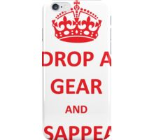 Drop a Gear and Disappear w/ Crown iPhone Case/Skin