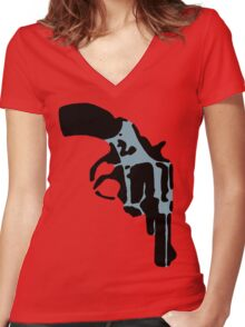 One Gun Women's Fitted V-Neck T-Shirt