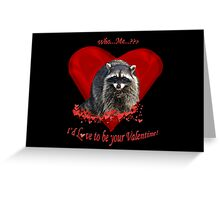 Raccoon Valentine Gifts Greeting Card