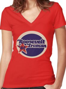 Roosevelt Truman Women's Fitted V-Neck T-Shirt