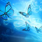 Butterfly Blue by Cliff Vestergaard