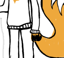 Choosy fox Sticker