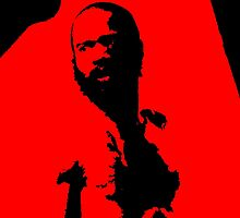 Death Grips - MC Ride Black And Red by Declan Llewellin