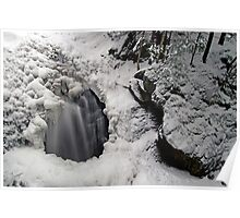 Icy Falls and Gorge Poster