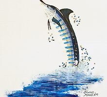 Flying Billfish by bubblepacific