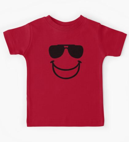 Funny smiley sunglasses Kids Tee
