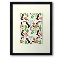 Western pattern Framed Print