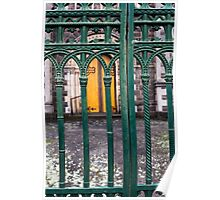 gate at St Andrew's Kirk, Ballarat Poster