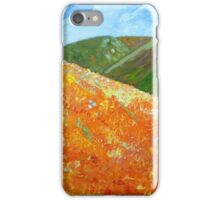 California Poppy Field, impressionism, palette knife painting iPhone Case/Skin