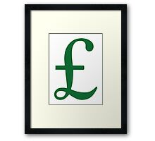 Pound Sterling Framed Print
