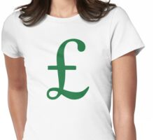 Pound Sterling Womens Fitted T-Shirt
