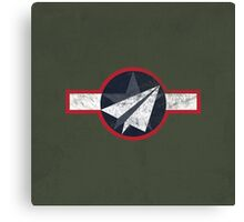 Paper Airplane 125 Canvas Print