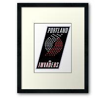 Portland Invaders Framed Print