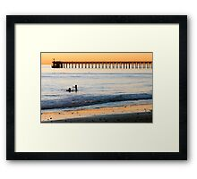 Look, There it is...... Framed Print
