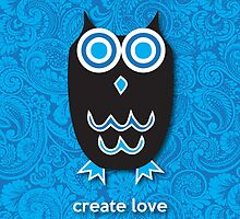 Create Love - Owl Blue by mediummania
