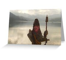 Phewa Lake, Nepal. Landscape photography Greeting Card