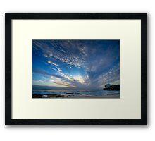 Cronulla Sky Framed Print