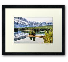 Two Jack Lake Wayside Framed Print