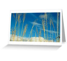 Wheat In The Sky Greeting Card