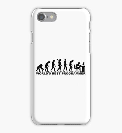 Evolution world's best Programmer iPhone Case/Skin