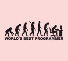 Evolution world's best Programmer Kids Tee