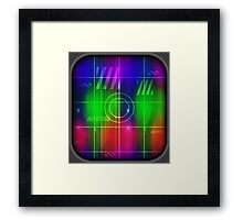 Colorful Abstract Pattern with Futuristic Sci Fi Effects. Framed Print