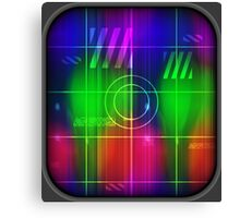 Colorful Abstract Pattern with Futuristic Sci Fi Effects. Canvas Print