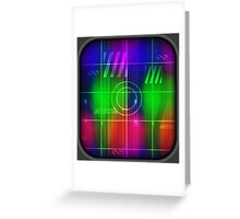 Colorful Abstract Pattern with Futuristic Sci Fi Effects. Greeting Card