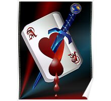 Ace Of Hearts and Dagger  Poster