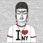 Buddha in N.Y.C  by edwin rivera
