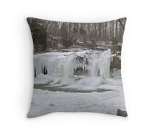 Cataract Falls Winter #1 Throw Pillow