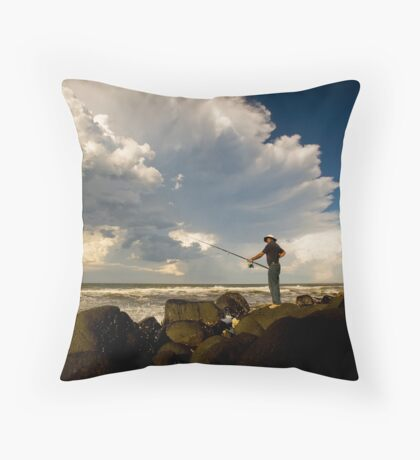 Rock Caster Throw Pillow
