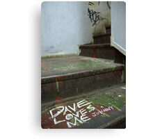 Dave Loves Me (Johnny) Canvas Print