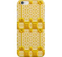 Gold and White Metallic Baroque Pattern, Original Design. iPhone Case/Skin