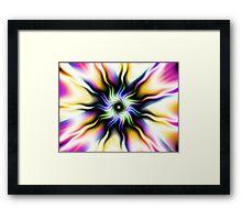 Shibori Sun Framed Print