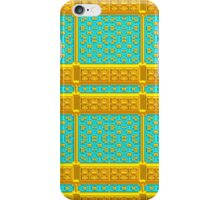Gold and Turquoise Metallic Baroque Pattern, Original Design. iPhone Case/Skin