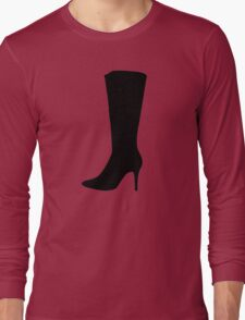 Black boot woman Long Sleeve T-Shirt