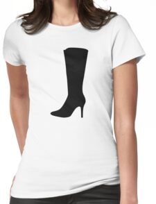 Black boot woman Womens Fitted T-Shirt