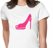 Pink pumps Womens Fitted T-Shirt