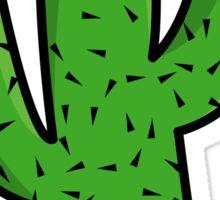 Smiling Comic Cactus Sticker