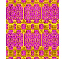 Pink and Gold Baroque Pattern, Unique Design. Photographic Print