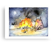 The Lonely Monster. Canvas Print