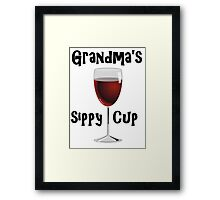 Grandma's Sippy Cup Framed Print