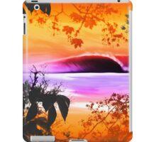 Verde y salmon iPad Case/Skin