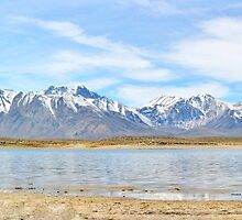 Crowley Lake Panorama by marilyn diaz