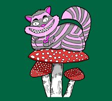 Sticker cheshire cat on Mushroom smoking bowl T-Shirt