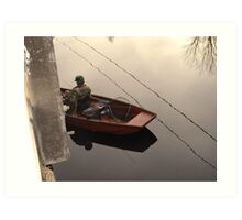 Fishing the Crappie Hole Art Print