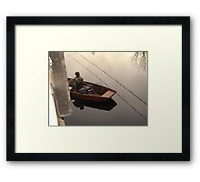 Fishing the Crappie Hole Framed Print